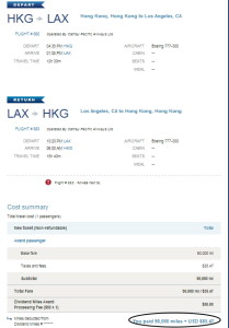Cathay Business Class Confirmed with US Airways Miles!