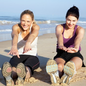 exercise-beach-stretching