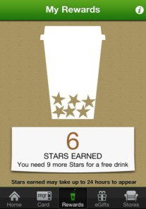starbucks rewards card gamification example