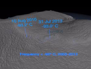 Record low temperatures in Antarctica