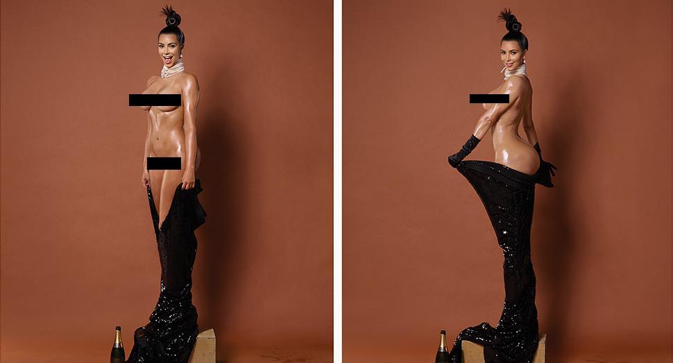 Kim Kardashian nude in Paper magazine