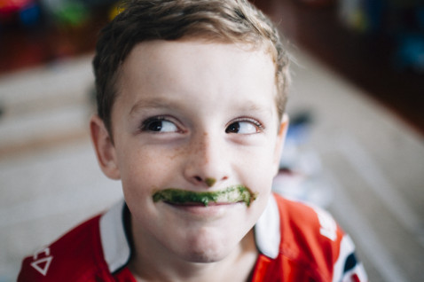 everyone loves a green smothie moustache