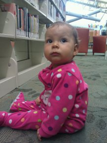 A random Tuesday night at the library. I think she was almost 6 months old here
