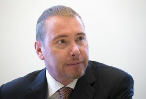 Gundlach, star bond investor and head of DoubleLine Capital LP,  is photographed during an interview in New York