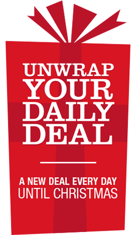 Unwrap Your Daily Deal. A new deal every day until Christmas