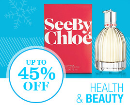 Up to 45% off Health & Beauty.