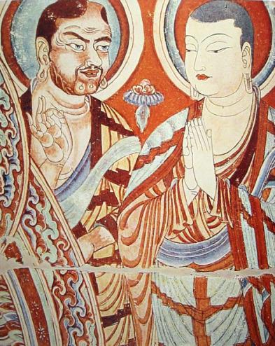 Tocharian monk, Xinjiang