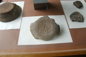 This Swastika (dated 500 BCE) was found on ancient artefacts during archeological digging in Bulgaria.