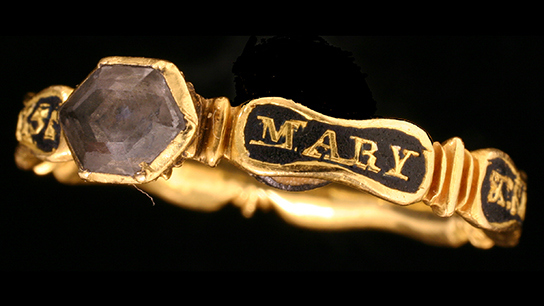Littleton mourning ring found in Bridgnorth, Shropshire. © Birmingham City Council