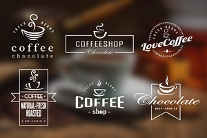 Coffee Retro Badges, Labels & Logos
