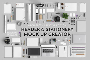 Header & Stationery Mock Up Creator