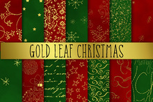 Gold Leaf Christmas Digital Paper
