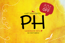 PH - 96 Handmade Fonts (83% OFF)