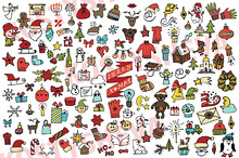 360Christmas,new year icons big set