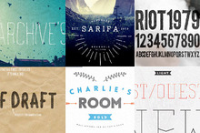 Six Fonts Bundle 75% off