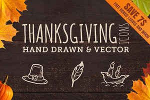 50 Hand Crafted Thanksgiving Icons