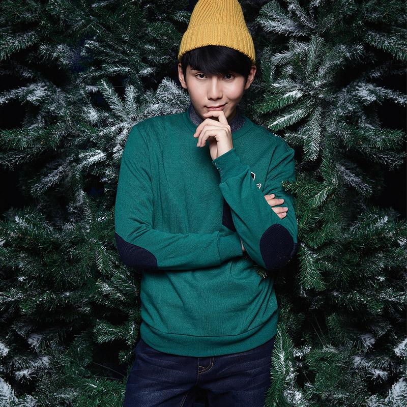 唐狮(TonLion)2014冬 男口袋贴标套头卫衣