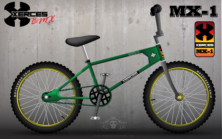 My retro concept design for a BMX bike.