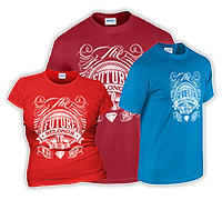 T-ShirtsmiteinfarbigemDruck