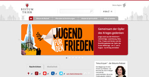 Information around the church with TYPO3 The diocese of Trier offers a wide range of information around the catholic church in Germany, the Caritas, Paulinus and even on various social media channels