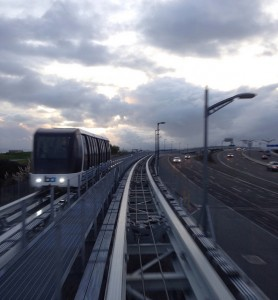 The automated people mover than opened at Oakland International airport in November. (Source: Author)