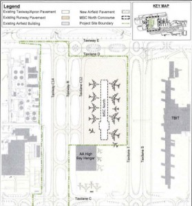 Site plan for the midfield satellite concourse. (Source: LAWA)