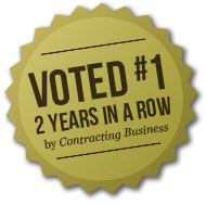 Voted #1 2 years in a row by Contracting Business