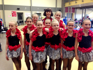 My daughter's dance team - sisters to the core.