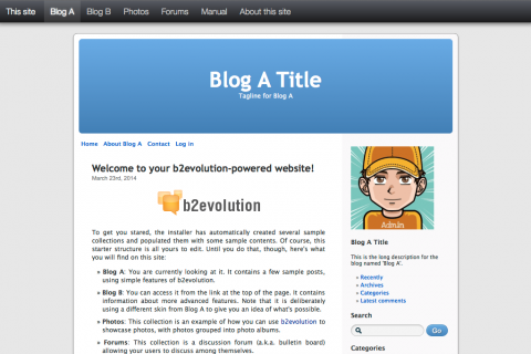 Start with a blog