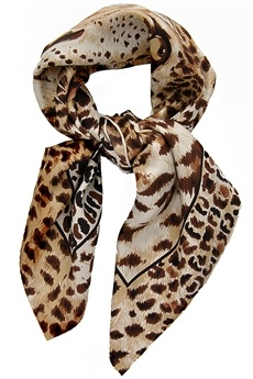 Animal print Fendi scarf, yes please.