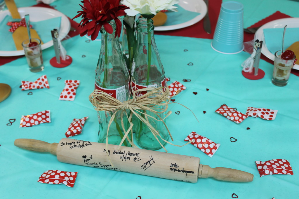 red teal bridal shower
