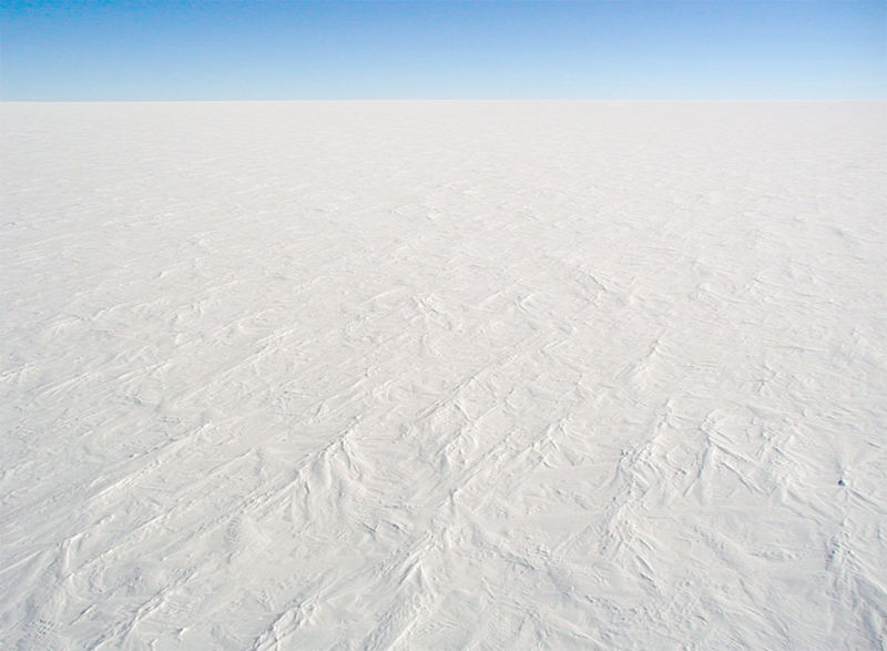 =A photograph of the snow surface at Dome C Station, Antarctica, it is representative of the majority of the continent's surface