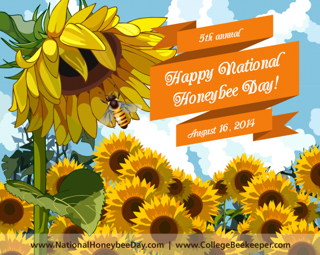 National Honeybee Day Banner