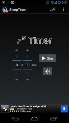 sleep timer Android Uygulaması Sleep Timer