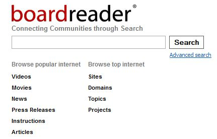 Boardreader Search