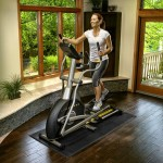 Adjustable Stride compact elliptical trainer for home use