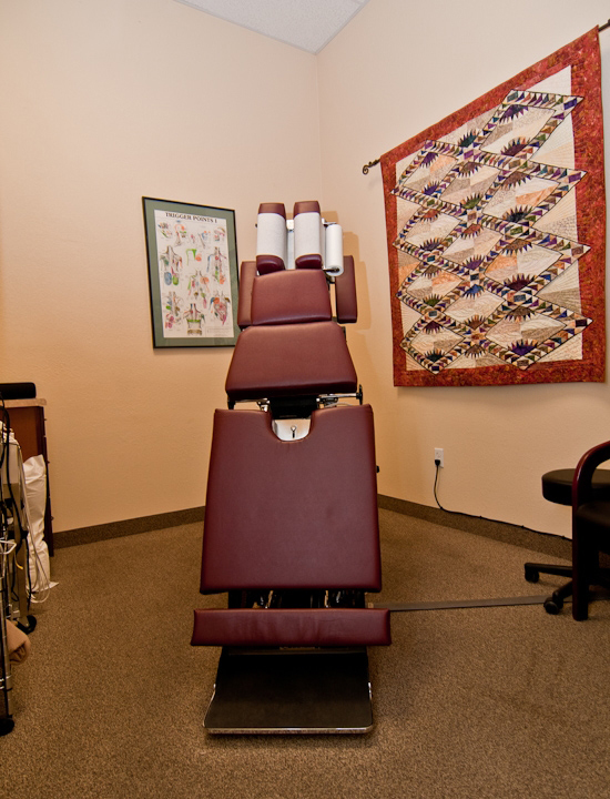 Dr. Campo, Phoenix Chiropractor in 85032 - Adjustment table at Desert Shadows Chiropractic in our Phoenix office