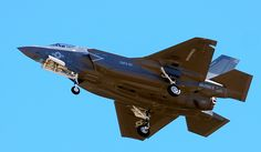 The first F-35B fighter jet attached to Marine Fighter Attack Squadron 121 arrives at Marine Corps Air Station Yuma in Yuma, Ariz., on Nov. 16, 2012. (Associated Press/The Yuma Sun, Craig Fry) ** FILE **