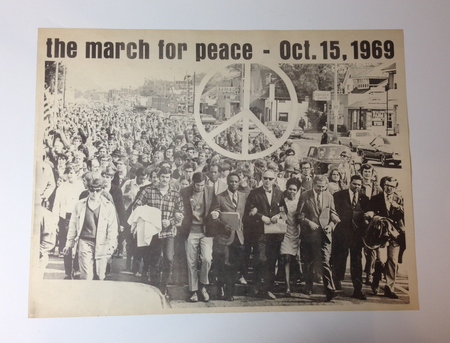 1969 : MSU Faculty and Students March Against Vietnam War