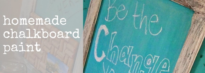 how to make chalkboard paint slide