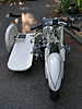 BMW Racing Sidecar, angle shot of front fender.