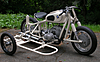 Vintage BMW motorcycle & sidcar with complete driveline installed, chassis built, waiting for fenders and miscellaneous bits.
