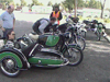 Restored Vintage BMW motorcycle R69S with Steib S500 sidecar.