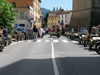 R75 BMW and KS750 Zundapp rally on the streets in Italy.