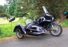 Restored BMW motorcycle R69S with Steib S501 sidecar.