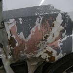 Close up of Parking lot repair