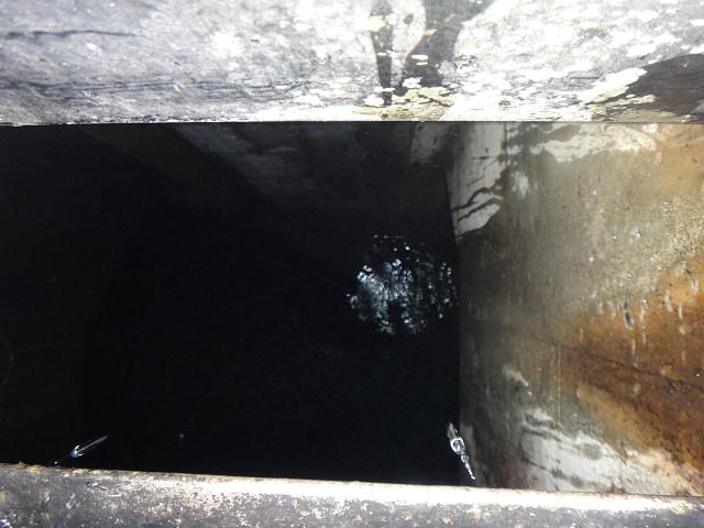 第2沈殿池からの排水