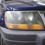 Headlamp Polish before