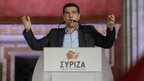 Syriza leader Alexis Tsipras addresses crowds in Athens. Photo: 25 January 2015