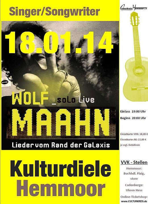 Wolf Maahn - Kulturdiele Hemmoor - Culturkreis Hemmoor